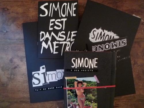 Kit de cahiers customisés by P.M. pour Simone